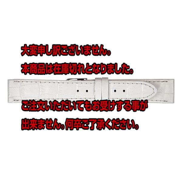 ミモザ MIMOSA 腕時計バンド 替えベルト カーフ CP-WH 20-18 ホワイト/シルバー 【腕時計 腕時計関連用品】