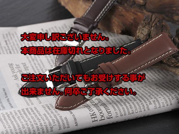 本革 カーフステッチ メンズ 腕時計 替えベルト PLCWS25-22-BK ブラック 【腕時計 腕時計関連用品】