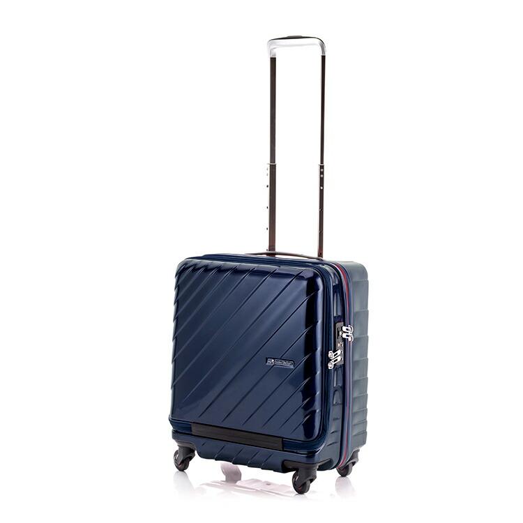 ヒデオワカマツ HIDEO WAKAMATSU マックスキャビン ウェーブ スーツケース 85-76292 ネイビー 【バッグ スーツケース】返品可 レビュー投稿で次回使える2000円クーポン全員にプレゼント