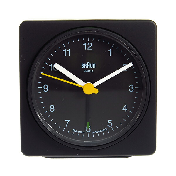 ブラウン BRAUN クロック 置き時計 BNC011BKBK ブラック 【インテリア 時計】