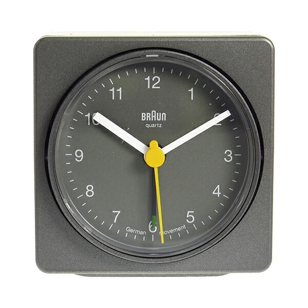 ブラウン BRAUN クロック 置き時計 BNC011GYGY グレー 【インテリア 時計】