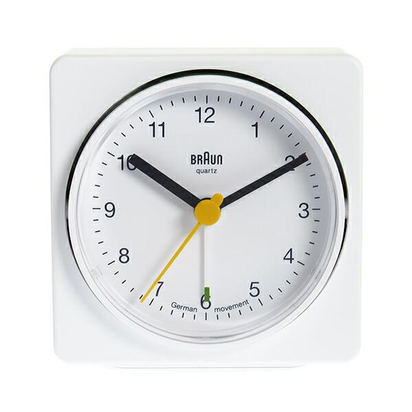 ブラウン BRAUN クロック 置き時計 BNC011WHWH ホワイト 【インテリア 時計】