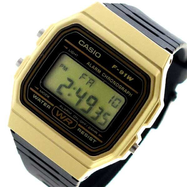カシオ CASIO クオーツ ユニセックス 腕時計 F-91WM-9A ブラック 【腕時計 海外インポート品】