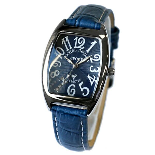 ミッシェルジョルダン MICHEL JURDAIN 天然ダイヤモンド クオーツ レディース 腕時計 SL-1000-8 ネイビー 【腕時計 国内正規品】返品可 レビュー投稿で次回使える2000円クーポン全員にプレゼント