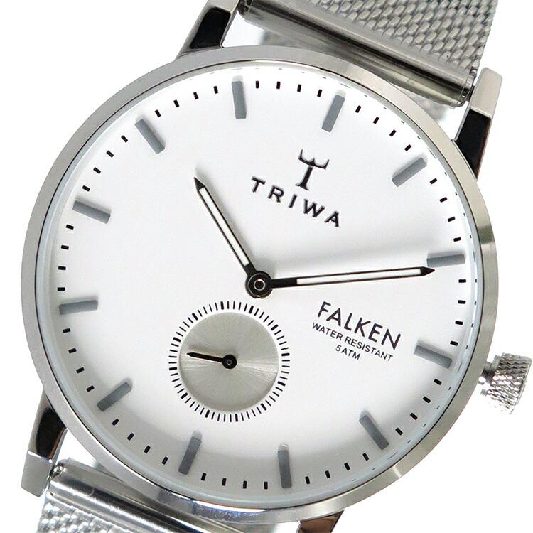 トリワ TRIWA クオーツ ユニセックス 腕時計 FALKEN FAST103-ME021212 ホワイト / シルバー 【腕時計 海外インポート品】返品可 レビュー投稿で次回使える2000円クーポン全員にプレゼント
