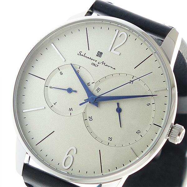 サルバトーレマーラ SALVATORE MARRA クオーツ メンズ 腕時計 SM18105-SSWH ホワイト 【腕時計 低価格帯ウォッチ】返品可 レビュー投稿で次回使える2000円クーポン全員にプレゼント