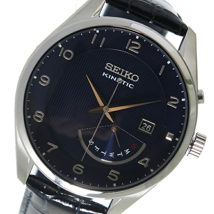 セイコー SEIKO キネティック クオーツ メンズ 腕時計 SRN061P1ネイビー/ブラック 【腕時計 海外インポート品】返品可 レビュー投稿で次回使える2000円クーポン全員にプレゼント