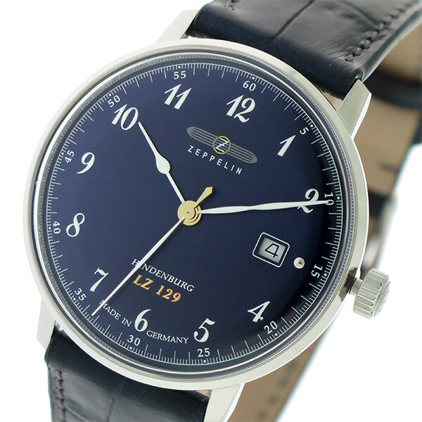 ツェッペリン ZEPPELIN ヒンデンブルグ クオーツ メンズ 腕時計 7046-3 ネイビー/ブルーブラック 【腕時計 海外インポート品】返品可 レビュー投稿で次回使える2000円クーポン全員にプレゼント