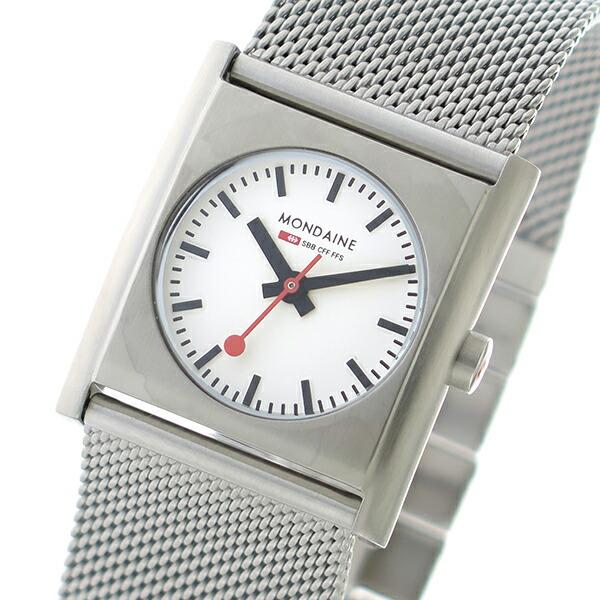 モンディーン MONDAINE クオーツ レディース 腕時計 A6583032016SBM ホワイト 【腕時計 海外インポート品】返品可 レビュー投稿で次回使える2000円クーポン全員にプレゼント