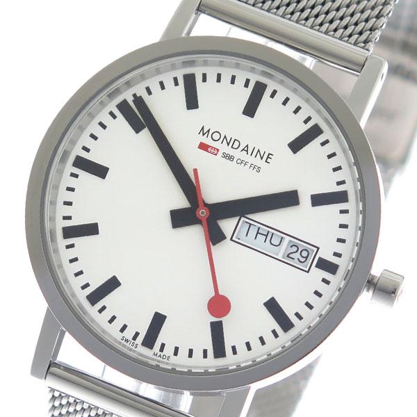 モンディーン MONDAINE クオーツ メンズ 腕時計 A6673031411SBM ホワイト/シルバー 【腕時計 海外インポート品】返品可 レビュー投稿で次回使える2000円クーポン全員にプレゼント