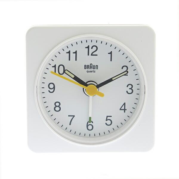 ブラウン BRAUN 置き時計 目覚まし時計 アラームクロック BNC019WH ホワイト 【インテリア 時計】