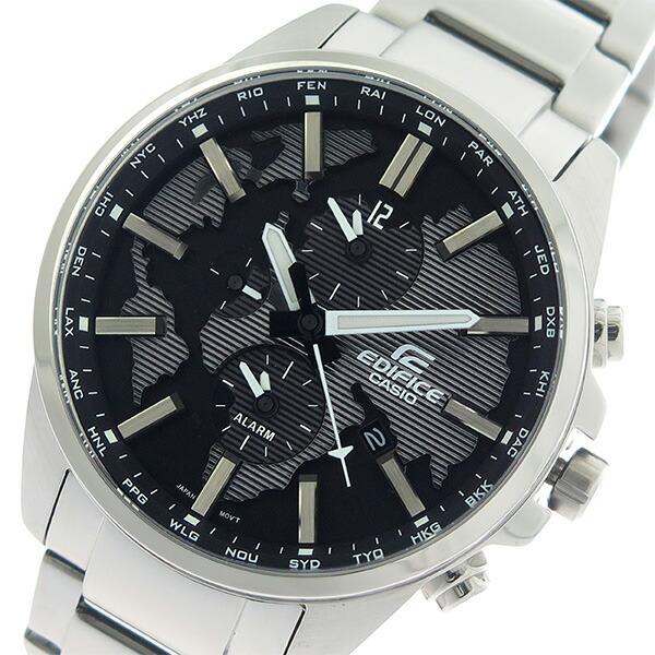 カシオ CASIO エディフィス EDIFICE クロノ クオーツ メンズ 腕時計 ETD-300D-1A ブラック/シルバー 【腕時計 海外インポート品】返品可 レビュー投稿で次回使える2000円クーポン全員にプレゼント