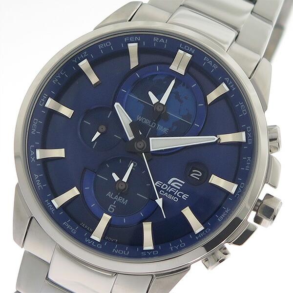 カシオ CASIO エディフィス EDIFICE クロノ クオーツ メンズ 腕時計 ETD-310D-2A ブルー/シルバー 【腕時計 海外インポート品】返品可 レビュー投稿で次回使える2000円クーポン全員にプレゼント