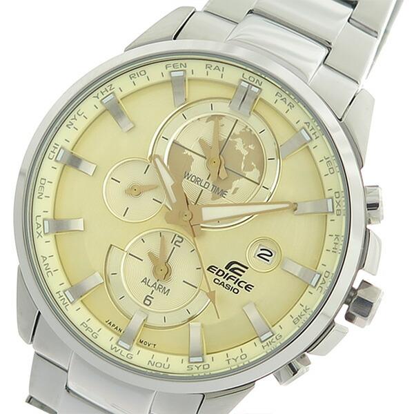 カシオ CASIO エディフィス EDIFICE クロノ クオーツ メンズ 腕時計 ETD-310D-9A シャンパンゴールド/シルバー 【腕時計 海外インポート品】返品可 レビュー投稿で次回使える2000円クーポン全員にプレゼント