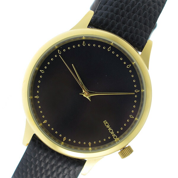 コモノ KOMONO Estelle Monte Carlo クオーツ レディース 腕時計 KOM-W2703 ブラック 【腕時計 海外インポート品】返品可 レビュー投稿で次回使える2000円クーポン全員にプレゼント