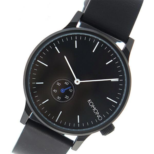 コモノ KOMONO Winston Subs クオーツ メンズ 腕時計 KOM-W3000 ブラック 【腕時計 海外インポート品】返品可 レビュー投稿で次回使える2000円クーポン全員にプレゼント