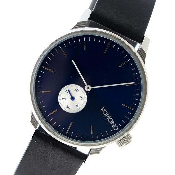 コモノ KOMONO Winston Subs クオーツ メンズ 腕時計 KOM-W3001 ネイビー 【腕時計 海外インポート品】返品可 レビュー投稿で次回使える2000円クーポン全員にプレゼント