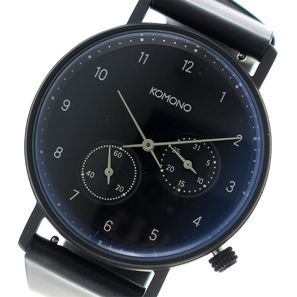 コモノ KOMONO Walther クオーツ ユニセックス 腕時計 KOM-W4033 ネイビー 【腕時計 海外インポート品】返品可 レビュー投稿で次回使える2000円クーポン全員にプレゼント