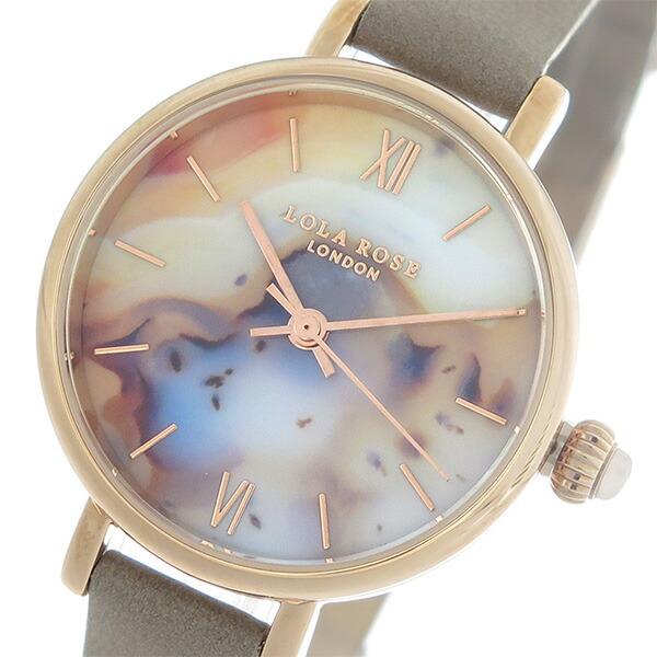 ローラローズ LOLA ROSE モンタナアゲート MontanaAgate クオーツ レディース 腕時計 LR2044 マルチ/グレージュ 【腕時計 海外インポート品】返品可 レビュー投稿で次回使える2000円クーポン全員にプレゼント