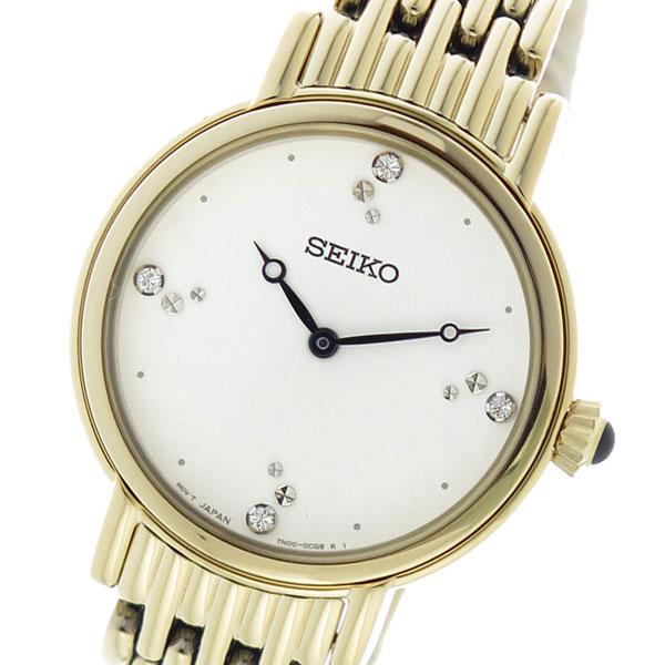 セイコー SEIKO クオーツ レディース 腕時計 SFQ804P1 ホワイト 【腕時計 海外インポート品】返品可 レビュー投稿で次回使える2000円クーポン全員にプレゼント