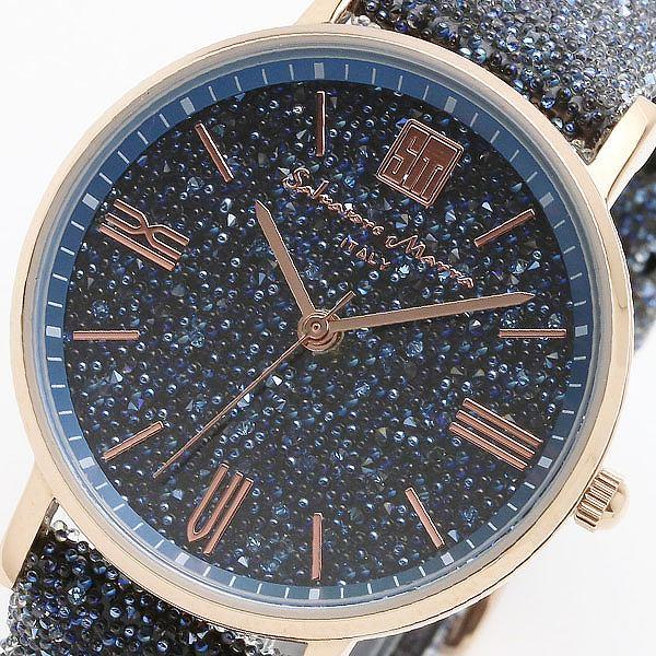 サルバトーレマーラ SALVATORE MARRA 替えベルト付き クオーツ レディース 腕時計 SM18115-PGBL ブルー/ブルー 【腕時計 低価格帯ウォッチ】返品可 レビュー投稿で次回使える2000円クーポン全員にプレゼント