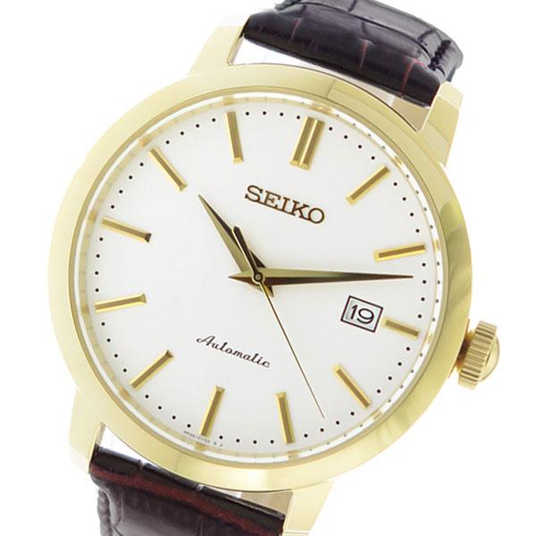 セイコー SEIKO オートマチック AUTOMATIC 自動巻き メンズ 腕時計 SRPA28K1 ホワイト 【腕時計 海外インポート品】返品可 レビュー投稿で次回使える2000円クーポン全員にプレゼント