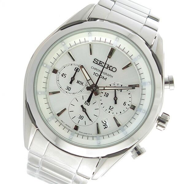 セイコー SEIKO クロノ クオーツ メンズ 腕時計 SSB085P1 シルバー 【腕時計 海外インポート品】返品可 レビュー投稿で次回使える2000円クーポン全員にプレゼント