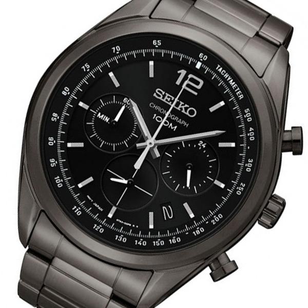 セイコー SEIKO クロノ クオーツ メンズ 腕時計 SSB093P1 ブラック 【腕時計 海外インポート品】返品可 レビュー投稿で次回使える2000円クーポン全員にプレゼント