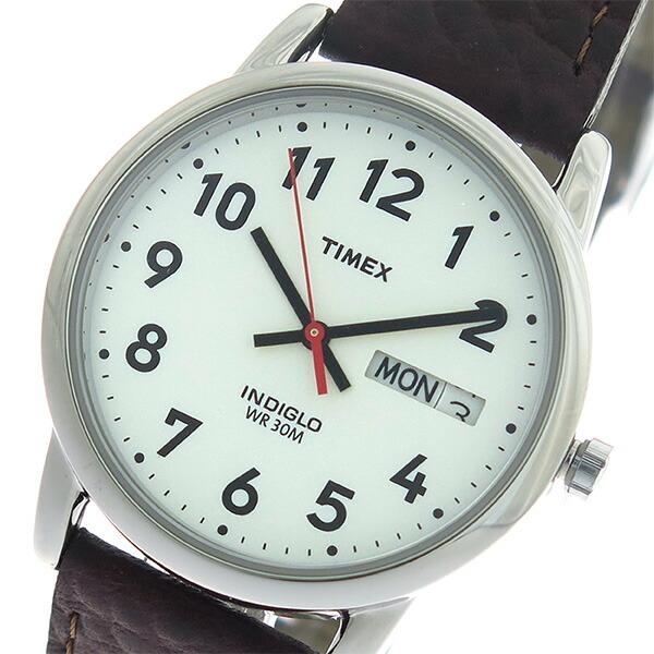 タイメックス TIMEX イージーリーダー EASY READER クオーツ ユニセックス 腕時計 T20041 ホワイト/ブラウン 【腕時計 海外インポート品】