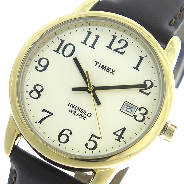タイメックス TIMEX イージーリーダー EASY READER クオーツ ユニセックス 腕時計 T2N369 アイボリー/ブラウン 【腕時計 海外インポート品】返品可 レビュー投稿で次回使える2000円クーポン全員にプレゼント