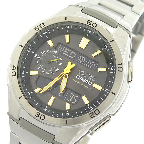 カシオ CASIO ウェーブセプター クオーツ メンズ 腕時計 WVA-M650D-1A2 ブラック/シルバー 【腕時計 海外インポート品】返品可 レビュー投稿で次回使える2000円クーポン全員にプレゼント