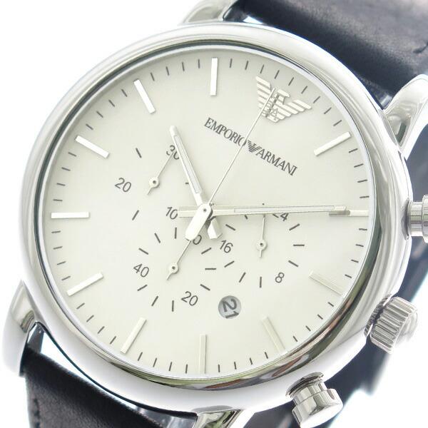 エンポリオアルマーニ EMPORIO ARMANI 腕時計 メンズ AR1807 クォーツ ホワイト ブラック 【腕時計 海外インポート品】返品可 レビュー投稿で次回使える2000円クーポン全員にプレゼント