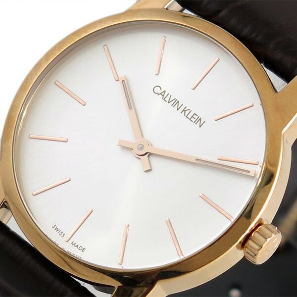 カルバンクライン CALVIN KLEIN 腕時計 レディース K2G23620 シティー CITY クォーツ シルバー ブラウン 【腕時計 海外インポート品】返品可 レビュー投稿で次回使える2000円クーポン全員にプレゼント
