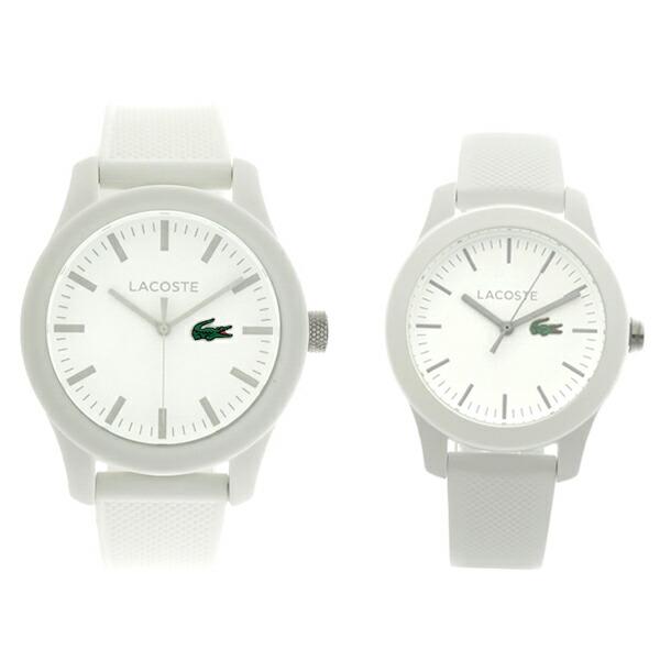 ペアウォッチ ラコステ LACOSTE 腕時計 メンズ レディース 2010762 2000954 クォーツ ホワイト 【腕時計 ペアウォッチ】返品可 レビュー投稿で次回使える2000円クーポン全員にプレゼント