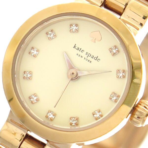 ケイトスペード KATE SPADE 腕時計 レディース 1YRU0921 クォーツ クリーム ピンクゴールド 【腕時計 海外インポート品】返品可 レビュー投稿で次回使える2000円クーポン全員にプレゼント