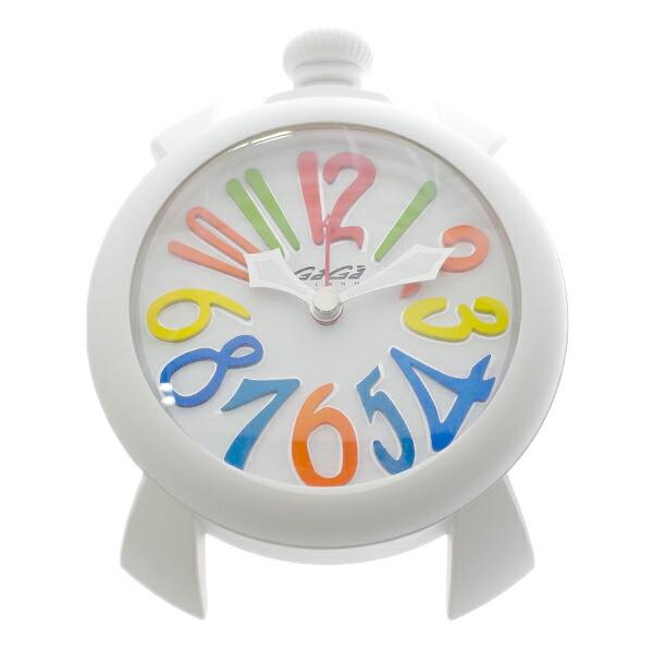 ガガミラノ GAGA MILANO 置き時計 9081.01 クォーツ ホワイト 【インテリア 時計】返品可 レビュー投稿で次回使える2000円クーポン全員にプレゼント