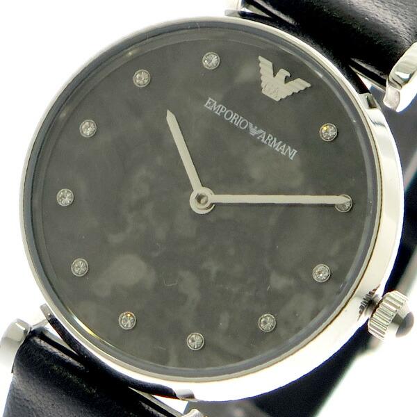 エンポリオアルマーニ EMPORIO ARMANI 腕時計 レディース AR11171 クォーツ ブラックマーブル ブラック 【腕時計 海外インポート品】返品可 レビュー投稿で次回使える2000円クーポン全員にプレゼント