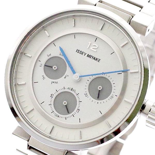 イッセイミヤケ ISSEY MIYAKE 腕時計 メンズ レディース SILAAB01 W-Mini ダブリュ ミニ 和田智 Satoshi Wada クォーツ ホワイト シルバー 【腕時計 海外インポート品】返品可 レビュー投稿で次回使える2000円クーポン全員にプレゼント
