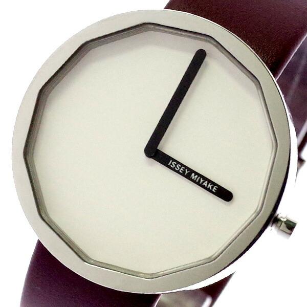 イッセイミヤケ ISSEY MIYAKE 腕時計 メンズ レディース SILAP016 トゥエルブ TWELVE 深澤直人デザインモデル クォーツ ホワイト ブラウン 【腕時計 海外インポート品】返品可 レビュー投稿で次回使える2000円クーポン全員にプレゼント