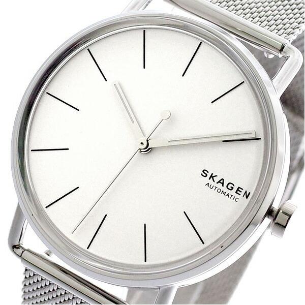 スカーゲン SKAGEN 腕時計 メンズ SKW6399 FALSTER 自動巻き ホワイト シルバー 【腕時計 海外インポート品】返品可 レビュー投稿で次回使える2000円クーポン全員にプレゼント