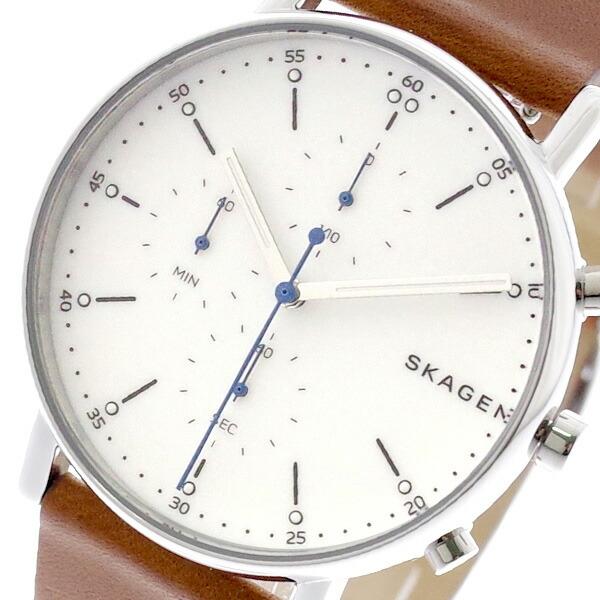 スカーゲン SKAGEN 腕時計 メンズ レディース SKW6462 SIGNATUR クォーツ ホワイト ブラウン 【腕時計 海外インポート品】返品可 レビュー投稿で次回使える2000円クーポン全員にプレゼント