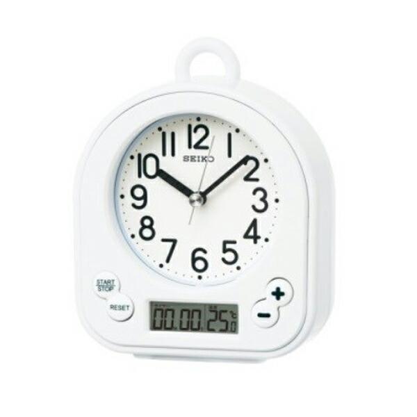 セイコー SEIKO クロック 生活防水 置き時計 BZ358W ホワイト 【インテリア 時計】
