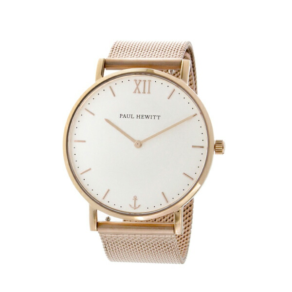 ポールヒューイット Sailor Line 36mm ユニセックス 腕時計 6450990 PHSARSMW4S ホワイト/ローズ 【腕時計 海外インポート品】返品可 レビュー投稿で次回使える2000円クーポン全員にプレゼント