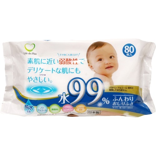 10000円以上送料無料 水99%弱酸性ふんわり赤ちゃんのおしりふき(80枚*1P) ベビー&キッズ おむつ おしりふき・おむつ用品 レビュー投稿で次回使える2000円クーポン全員にプレゼント