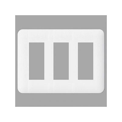 レビュー投稿で次回使える2000円クーポン全員にプレゼント パナソニック コンセントプレート 3連用 9コ用 ラウンド ホワイト WTF7009W 【生活家電\タップ・配線\配線部材】