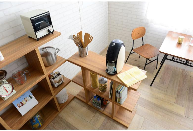 シェルフ 棚 ラック オープンシェルフ テレビ台 電話代 FAX台 本棚 ディスプレイラック オープンラック