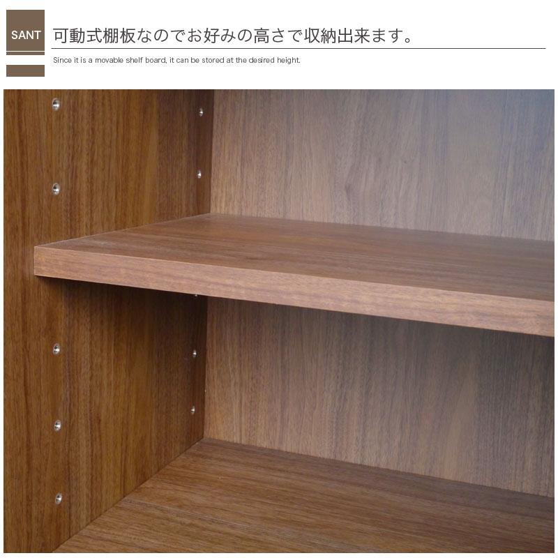 サイド キャビネット サント SANT L/R ウォールナット 無垢 おしゃれ 木製 モダン 収納