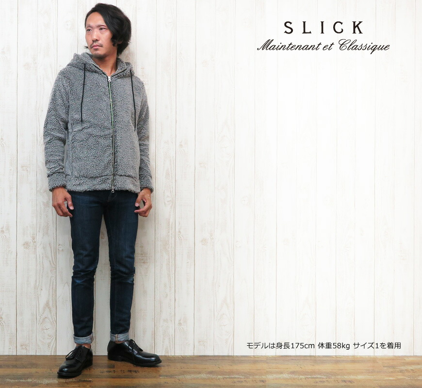 SLICK フェイクファージップパーカー 5151207