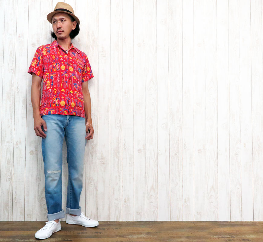 "SUN SURF アロハシャツ SPECIAL EDITION KALAKAUA ""ONE HUNDRED TIGER"" SS36986"