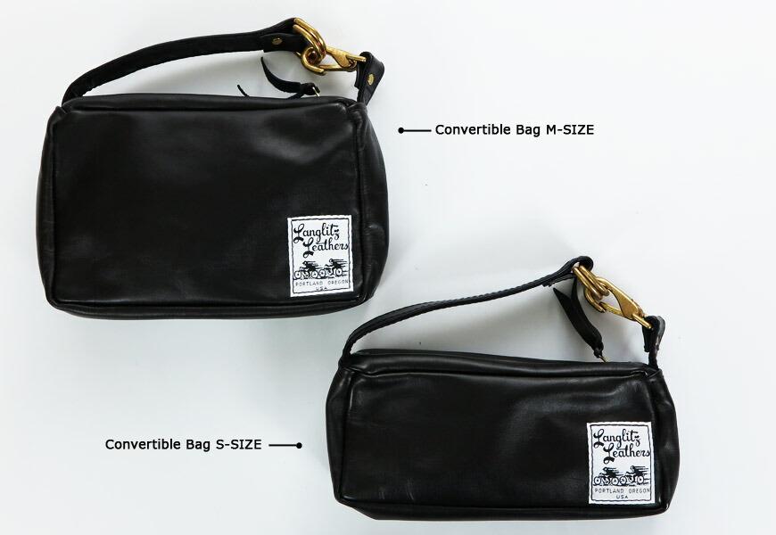 ラングリッツ・レザーズ Langlitz Leathers コンバーチブル バッグ Sサイズ Convertible Bag